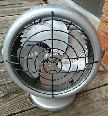 Vintage Dominion 2005-A Table Fan Custom Silver paint Black cage Works USA