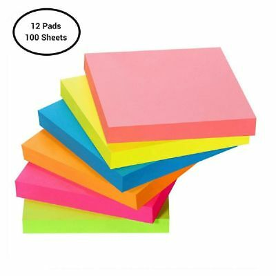 Post-It Noen Color Sticky Notes Colors Pop Up Memo Reminder 12 Pads 100 Sheets