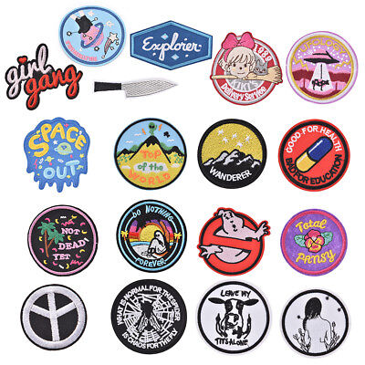 Embroidery Funny appliques badges Sew Iron On Patch Badge Fabric Applique DIY