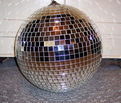 "Vintage Huge 1970's Mid Century Modern Disco Party Mirror Ball 68"" Circumference"