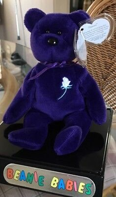 Ty Beanie Baby*PRINCESS (Diana) Bear RARE 1ST EDITION! 1997 PVC IMPECCABLE MWMT
