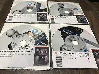 House of Cards - Series 1 - Complete (DVD, 2013, 4-Disc Set, Box Set) DISKS ONLY