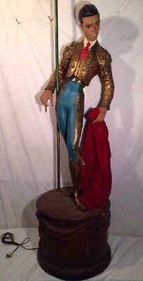 Large Vintage MCM Spanish Bull Fighter Floor Lamp. (Gay Appeal)