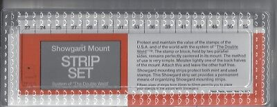 Asst. of 75 Showgard BLACK Mount Strips 5 ea. of 15 Sizes 215 x 22 mm thru 52 mm