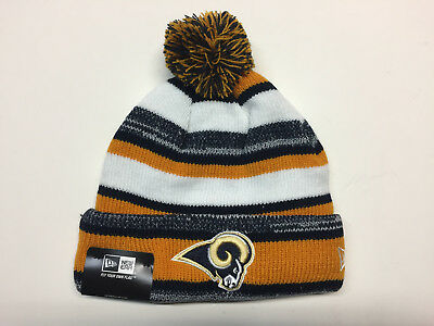 the best attitude c37fe ef50a Los Angeles Rams New Era Pom Pom Beanie ~Knit Hat~ NFL Youth Size