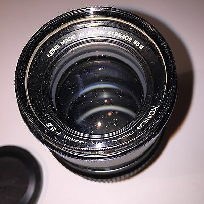 Konica Hexar AR 135mm F 3.5 Lens Made In Japan With Hard Case