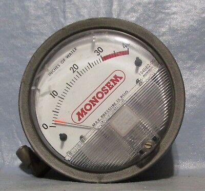 Lg Vintage Industrial Machine Age Decor Water PSI Gauge Steampunk Altered Art