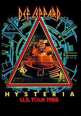 Def Leppard 1988 Hysteria U.s. Tour Concert Program Book / Near Mint 2 Mint
