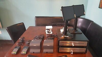 2 Complete Revel Intuit Quickbooks POS Systems With 2 IPad Air's and more