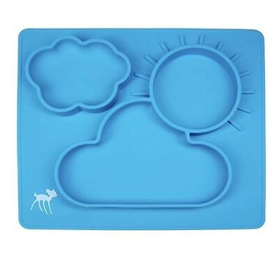 Silicone Plate Bowl Feeding Placemat for Babies Toddler Kids XL NonSkid
