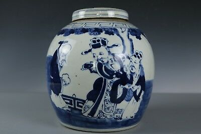 Chinese Fine Beautiful Blue and white porcelain character Tea pot