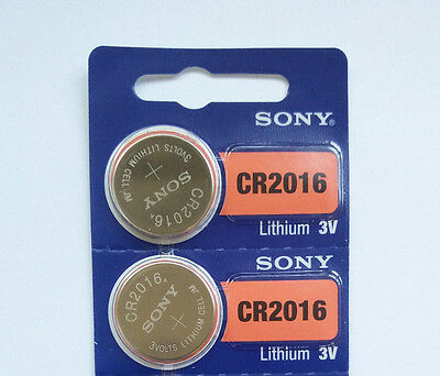 2 NEW CR2016 SONY BATTERY - Free Shipping Worldwide - Expiration Year: 2026