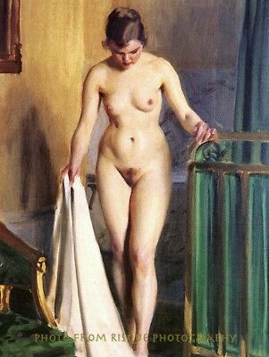 "Nude Woman in the Bedroom, 8.5x11"" Photo Print Modern Naked Female Anders Zorn"