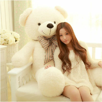 39in Giant Big Plush Stuffed Teddy Bear Huge Soft 100% Cotton Toy Best Xmas Gift
