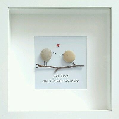 Personalised Engagement Gift ❤ Wedding, Anniversary ❤ Unique, handmade & framed
