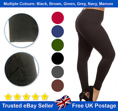 Woman Girls Leggings Thick Winter Warmer Soft Fleece one Size 8-16 thermal