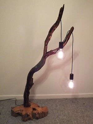 Handcrafted Driftwood Floor Lamp. Natural Wood. Hand Made. Rustic. Reclaimed.