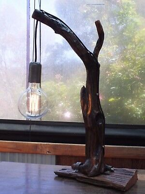 Handcrafted Driftwood Table  Lamp. Natural Wood. Hand Made. Rustic. Reclaimed.