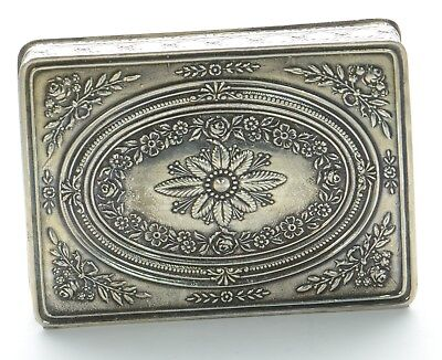 French Sterling Silver Trinket Box
