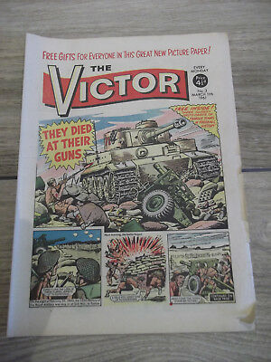 THE VICTOR - No 3 - MARCH 11th 1961 - COMIC - VINTAGE