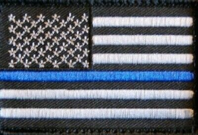 Thiny blue line us flag Velcro® patch Police, CIA, FBI, SWAT, DEA,... NEW!!!