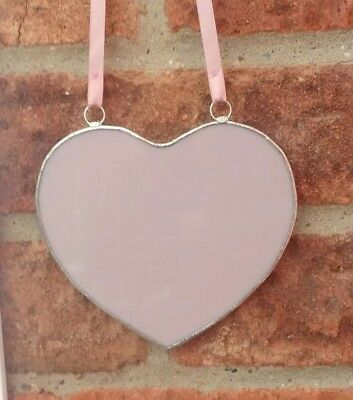 Stained Glass Pink Heart Handmade Brand New Mother's Day Gift Tiffany Style