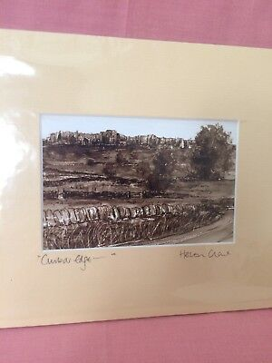 Cumbar Edge In The Peak District Mounted & Signed Print By Helen Clark