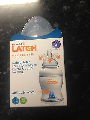 Munchkin Latch 120ml Anti Colic Baby Bottles X 3