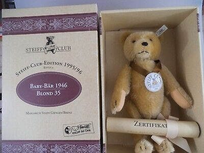 Steiff Club Teddy 1946 blond 420054 in OVP 35cm (1368b)