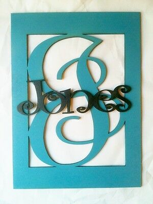 "18"" Wooden Boxed Letter with Name unpainted wood monogram home Decor Custom"