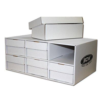 BCW Card House with 6x 1600 Count Shoe Corrugated Cardboard Storage Boxes