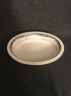 "Lenox China Liberty 9"" Oval Serving Bowl Presidential Collection Gold Trim"