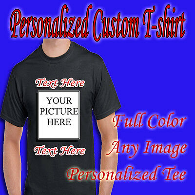 Personalized Custom T Shirt - with Photo & Text or Logo made by T-shirt Makerz