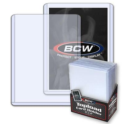 1 Case of 1000 3x4 BCW 12 Mil Standard Topload Card Holder