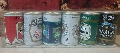 Peroni Miniature Beer Can Small Italian 6 Cans