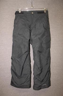 COLUMBIA Youth Small 8 insulated ski snow pants BLACK OUT GROWN grow system