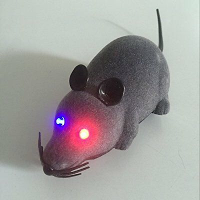Wireless Remote Control RC Rat Mouse Toy For Cat Dog Pet Novelty Gift Funny (LED