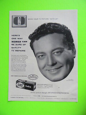 1955 Women Can Be Sure Of Quality Tv Repairs Cbs Tubes Jackie Gleason Photo Ad