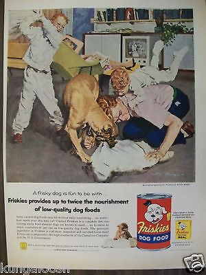 1956 Friskies Dog Food Ad, An Austin Briggs Painting