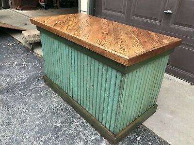 Antique Wainscot Cabinet Repurposed Serving Bar Old Paint Great Store Display