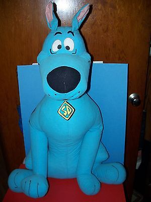 """Large 29"""" Plush Fluorescent Blue SCOOBY DOO Dog Stuffed Animal by Toy Factory"""