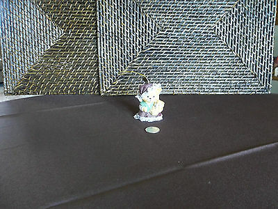 """Decorative ornament bell cat holding kitten figurine colorful design 2.75"""" tall"""