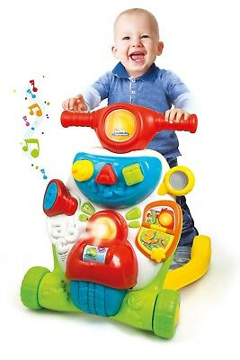 Baby Clementoni Multifunction 2 In 1 Activity Walker Light Music English Spanish