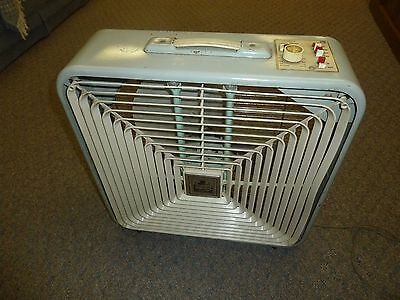 """Vintage Windsor Deluxe 3 Speed 22"""" Box Fan - Thermostat Control - In and Out"""