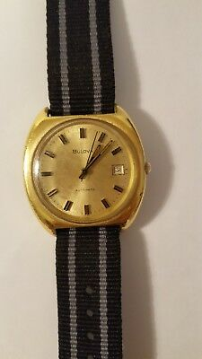 Vintage 70's BULOVA Gold Plated Automatic Movement Watch good running order