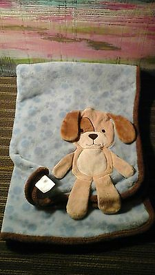 Koala Baby Blue Brown Puppy Dog Blanket Paw Prints 3D Security Lovey  toys r us