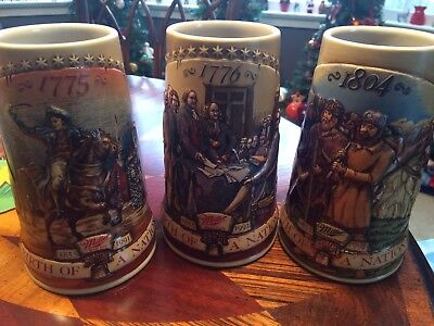 Set of Birth of a Nation Miller Steins 1775, 1776, 1804 -1st, 2nd, 4th in series