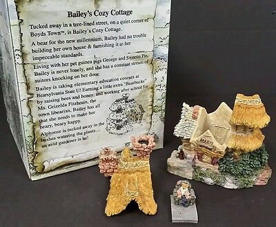 Boyds Bearly Built Village 2000 BAILEY' S COZY COTTAGE 19002