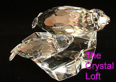 1991 ORG BOXED SCS Swarovski Crystal Mother Child Lead Me The Seals Figurine COA