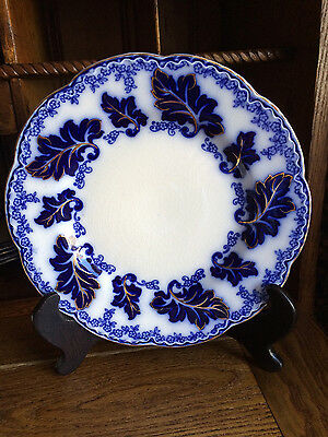 "Johnson Brothers Flow Blue NORMANDY 8"" salad or luncheon plate"